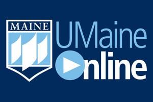 UMaine Online logo with blue background