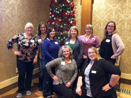 staff at Bangor Region Chamber of Commerce Women's Leadership Luncheon