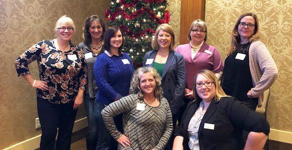staff at Bangor Region Chamber of Commerce Women's Leadership Luncheon